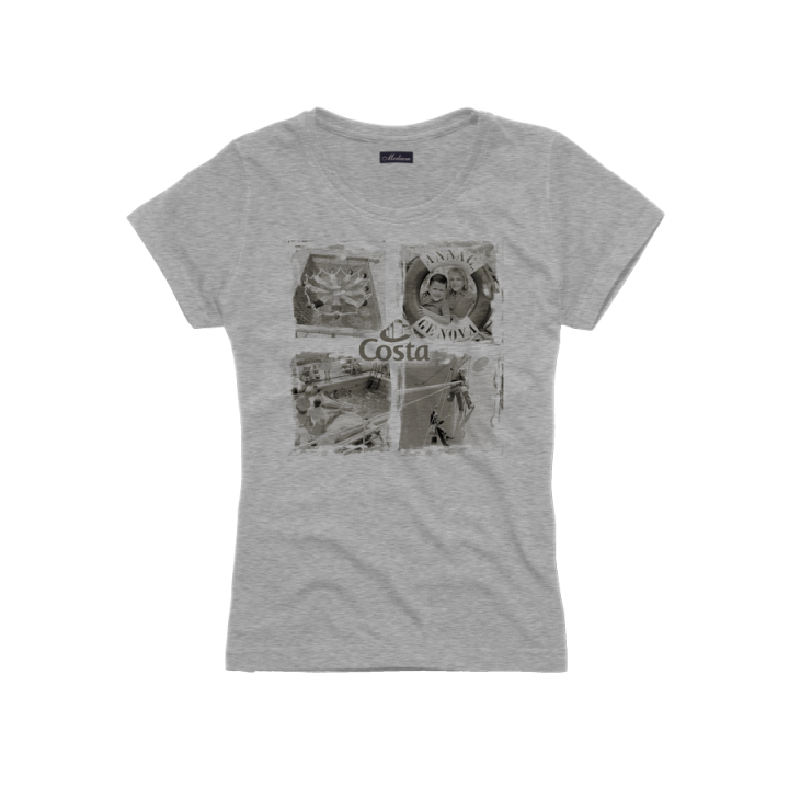 Donna t-shirt costa agenti